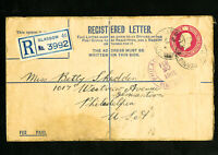 Great Britain Stamps 1935 Registered Cover to Philadelphia