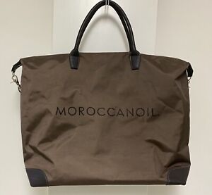 MOROCCANOIL XL Duffel Tote Bag Zip Top Adjustable Strap
