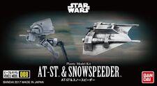 Bandai Vehicle Model 008 Star Wars At-st Height 60mm Snow Speeder Height 40mm P