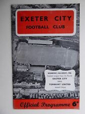 1966 Exeter City v Torquay Football League Cup - 1st Round.