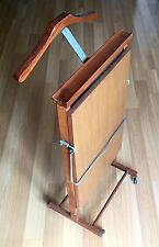 OLD VTG WOOD UL LISTED ELECTRIC HEATED WHEELED PANT CLOTHES HANGING DRYING RACK