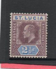 St.Lucia EV11 1902-03 2.1/2d dull purple & ultramarine sg 60 H.Mint