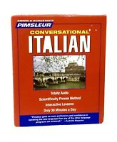 Pimsleur Conversational Italian Learn Italian Language 8 CDs