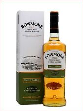 BOWMORE SMALL BATCH bourbon cask matured islay balancedsingle malt scotch whisky