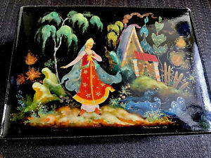 Russische Lackdose, Palech, Palekh 1979 USSR, russian lacquer box