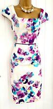 Preciosa Monzón Talla 12 Vestido Ocasión Brillante Floral Algodón Verano inteligente en muy buena condición