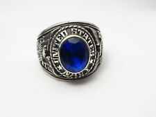 STERLING SILVER 925 , RING , USA , USN , US NAVY ring , us SIZE: 8.5 ,  id94