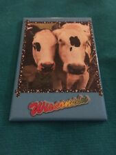 Wisconsin State Fridge Magnet -- Jersey Cows-- (2 x 3 inches) Free Shipping