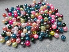 200 X Acrílico cuentas de perla-Redondo - 6mm-mezclado de color