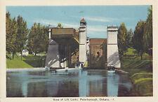 View of Lift Locks PETERBOROUGH Ontario Canada 1930-40s PECO Postcard
