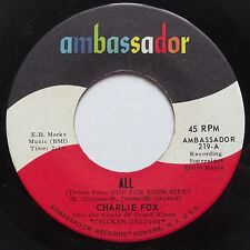CHARLIE FOX: ALL on AMBASSADOR rare ROCKER 45 super SHRED hear it!