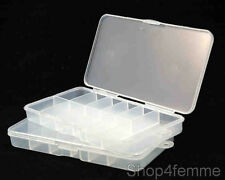 2 X Nails Storage Plastic Box - Store up to 100pcs