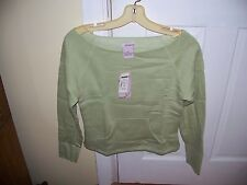 Fairweather Size M Fleece Top Shoulder Slouch Sage Green Soft Inside Pull Over