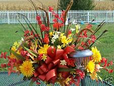 Thanksgiving / Leukemia Cancer Cemetery Flower Tombstone Saddle Frame Fall Spray