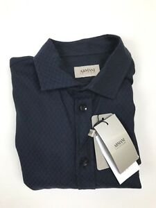 Armani Collezioni - Navy Hexagon - Small - *NEW WITH TAGS* RRP £165
