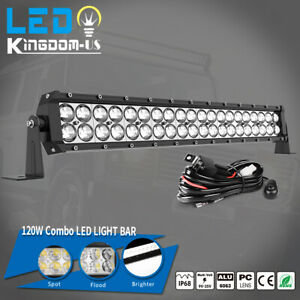22inch 120W LED Light Bar Spot Flood Combo Driving Offroad Pickup Bumper SUV ATV