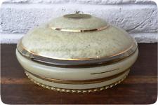 Vintage Lightshade - Lampshade - Glass - Art Deco - Pie Crust - Marbled - Cream