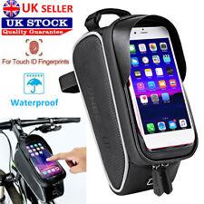 Waterproof Mountain Bike Frame Front Bag Pannier Bicycle Mobile Phone Hold UK
