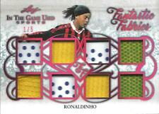 Ronaldinho 2019 Leaf In the Game Used Prime Jersey Fantastic Fabrics 1/5 Brazil