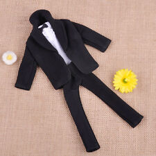 New Formal Outfit Suit Clothes Wedding Groom Tuxedo Coat+Shirt+Pant Fit For Doll