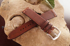 Watch strap handmade Brown Leather fit speedmaster any size available