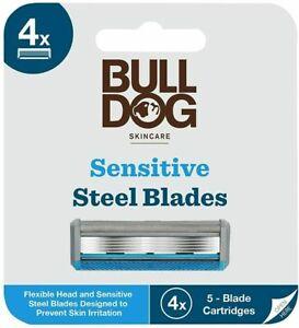 ****Bulldog Skincare SENSITIVE Steel Blade Refills- Pack of 4 Razor Blades