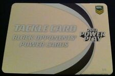 NRL Power Play Game Silver Tackle Card 1 in every 24 Packs Rare Nrl Cards New
