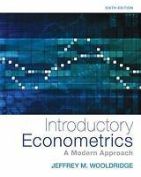 Upper Level Economics Titles: Introductory Econometrics : A Modern Approach...