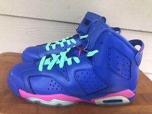 Nike Air Jordan 6 Retro GS Game Royal Pink 543390-439 Youth Sneakers Size 6.5Y