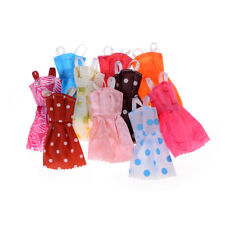 10Pcs/ lot Fashion Party Doll Dress Clothes Gown Clothing For Barbie Doll FG