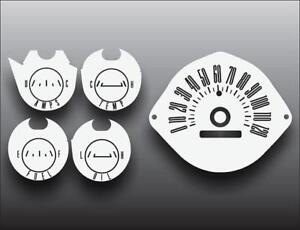 1965 Mercury Comet Dash Instrument Cluster White Face Gauges