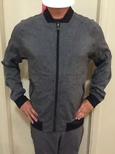 NWT AUTHENTIC LULULEMON ATHLETICA HBLK/BLK COOL DOWN BOMBER SZ L ***********
