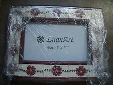 Gorgeous UNIQUE LuanArt Ceramic 5 x 7 Foto Frame ***BRAND NEW***