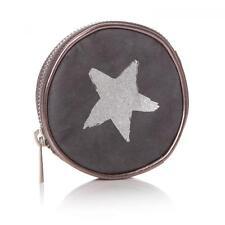 Shruti Monedero gris y plata con diseño de estrella Cartera Bolsa Embrague de dinero