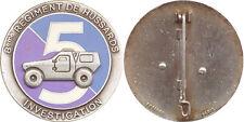 8° Régiment de Hussards, 5° Escadron INVESTIGATION, violet, Fraisse Paris (7278)