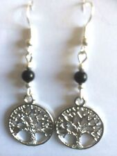 Stunning 'Tree of Life' Tibetan silver Drop Earrings Wican Pagan Great Present