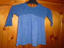 Cute baby girls dark blue marl long sleeve dress, NEXT, 3-6 months