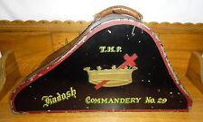 Old / Antique Empty Metal Hat Box - T.H.P. Kadosh Commandery No. 29