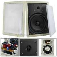 "2 Pack 6.5"" 2 Way In Wall Speakers 100 Watts Max 8 Ohm Mtx Audio Musica602w Home"