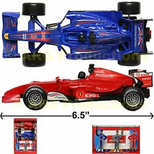 FORMULA 1 RACING CAR TOY SET OF 2 (TWO) F1 TRACK RACE FIGURINE LIGHT & FX SOUND