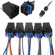 5Pcs Wasserdichte Integrierte 12V 40A 5PIN Auto Relay & Socket Halter 18/16 AWG