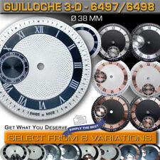 DIAL GUILLOCHE Ø 38 MM, FOR MOVEMENT ETA UNITAS 6497 + 6498, 8 VARIATIONS