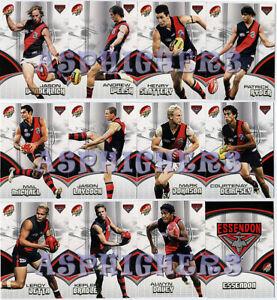AFL 2007 SELECT Supreme ESSENDON BOMBERS Football Stars Cards Complete Team Set