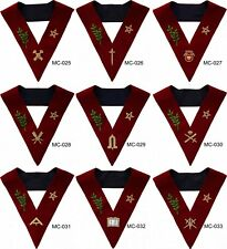 MASONIC SCOTTISH RITE 14TH DEGREE LODGE OF PERFECTION OFFICER COLLARS SET OF 9