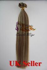 """Mix Colours 16"""" 1g 7A Double Drawn Indian Remy Nail-Tip Human Hair Extensions"""