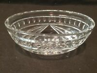 """Waterford Crystal Overture 7"""" Bowl Oval Shaped Beautiful"""