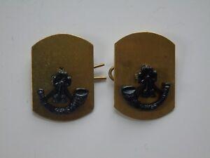 British Army Royal Green Jackets Anodised Collar Badges
