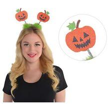 Kids Adults Halloween Glitter Pumpkin Headbopper Headband Jack o Lantern