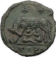 CONSTANTINE I Romulus Remus Wolf Rome Commemorative Ancient Roman Coin i57456