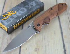 Couteau Browning Rosewood Lame Acier Inox Manche Bois BR0176